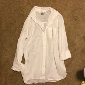 Old Navy White button down blouse